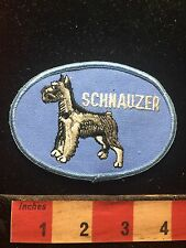 Vtg Souvenir SCHNAUZER DOG Patch ~ Animal Pet Lover Collectible 73X7