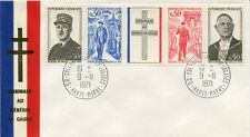 FRANCE FDC - 789 1698A 1 GENERAL DE GAULLE - COLOMBEY 9 11 1971 - LUXE