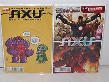 AXIS #1 - Baby Variant + Reg Cover -REMENDER Kubert- AVENGERS X-MEN - Onslaught