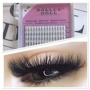 Dollce Doll Premade Russian Volume Lash Fans 4D SHORT STEM Eyelash Extension