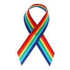 Gay Pride Rainbow Awareness Ribbons - 250 Ribbons with Safety Pins
