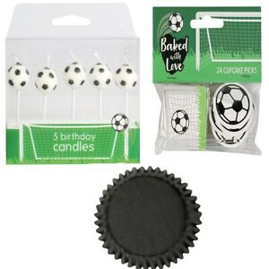 Football Birthday Cake Party Pack Toppers Candles Cupcake cases Picks Boy Girl
