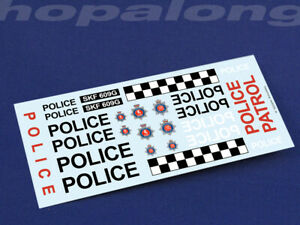 Model/Scalextric/Slot Car 1/32 Scale Waterslide Decals 'Police'. ns022b_w