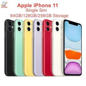 "Genuine Original Apple iPhone 11 6.1"" Unlocked RAM 4GB ROM 64/128/256GB A13 Bion"