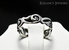 Cute Summer Beach Toe Ring Adjustable .925 Sterling Silver Abstract Swirl