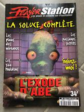 Magazine Player Station Soluce Complète - L'EXODE D'ABE - Playstation no Crash