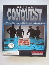 "GLOBAL CONQUEST Strategy Game - Microplay 1992 - IBM PC 5¼""HD Big Box"
