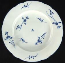 18TH CENTURY FRENCH CHANTILLY SOFT PASTE PORCELAIN PLATE BLUE FLORAL SPRIGS