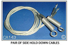 Saab ConvertibleTop Hold Down Cables, Pair 1996-1998 900S & 900SE