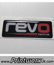 BLACK REVO Tuning GEL BADGE resina FORD FIESTA FOCUS ST RS VW/Audi/Skoda/Seat