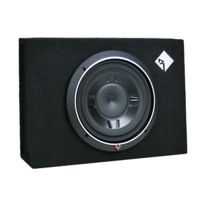 """Rockford Fosgate P3S-1X10 10"""" 600W Shallow Subwoofer Loaded Sealed Enclosure NEW"""