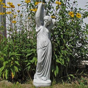 """Statue """"Hebe, Göttin der Jugend"""", Quellstein Figur, winterfest, Dekoration"""