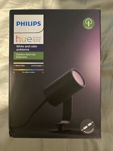 NEW Philips Hue Lily Spot Extension: Outdoor Smart Home Colour Lighting 1 Piece