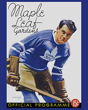Syl Apps - Maple Leafs 1938 Game Program Cover - 8x10 Color Photo