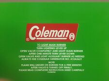 Coleman Decal For 413A Stove And Others Vinyl Easy To Install