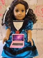 """Pink Metal Laptop Computer 18"""" Doll Clothes Accessory For American Girl Dolls"""