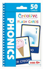 NEW 50 Phonics Flash Cards Preschool Pre-K Toddler Kindergarten Ages 4+