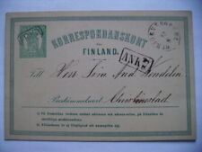 Russia Finland 1875 stationary card used, Bjorneborg