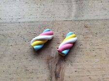 2 Flumps Charms Handmade Sweets Retro Handmade Crafters Clay