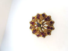 FRATERNAL LADY'S ANTIQUE YELLOW GOLD TONE THE ORDER OF THE EASTERN STAR BROOCH