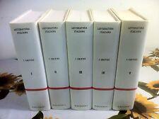 Letteratura Italiana I Critici 5 vol diretta da Gianni Grana Marzorati 1989
