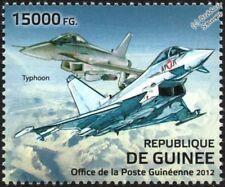EUROFIGHTER TYPHOON EF2000 Fighter Aircraft Stamp (2012 Guinea)