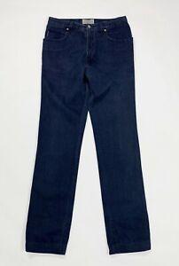 Armani jeans donna usato W32 tg 46 slim straight boyfriend used denim blu T4918