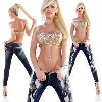 New Sexy Women Clubbing Blue Trouser Skinny Jeans Ladies Pants Size 6 8 10 12 14