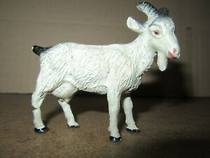 743Q Rare Vintage Durso Composition Made IN Swiss Goat White H 6.7 CM