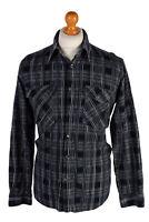 Vintage Laviino Corduroy Checked Shirt MENS CASUAL RETRO DESIGNER Multi L SH2862
