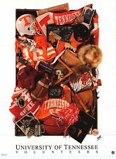 SPORTS POSTER~Tennessee Volunteers Collage NCAA Football Basketball Print Lady~