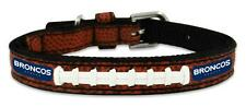 Denver Broncos Toy Leather Lace Dog Collar [NEW] NFL Pet Cat Lead Small XS