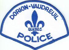 Dorion-Vaudreuil Police, Quebec, Canada HTF Vintage Uniform/Shoulder Patch
