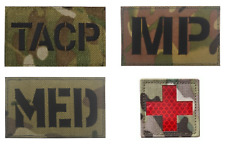 More details for 4 x multicam patches combat military hook loop badge irr & reflective airsoft