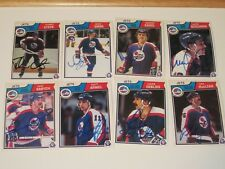 LOT OF8 DIFFERENT AUTOGRAPHED 1983 OPC O-PEE-CHEE WINNIPEG JETS CARDS
