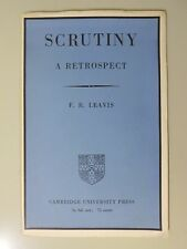 F.R. Leavis - Scrutiny: A Retrospect - First Edition - INSCRIBED by Leavis