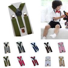 Suspenders Pants Kids Girls Elastic Braces Clip-on Wide Children Toddler Unisex