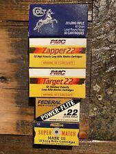 Vintage .22 Box Group #3. Colt, Pmc, Federal Rabbit & Squirrel, Western Match