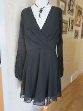 BCBG Generation Black Long Lace Sleeves Mini Dress Size 10
