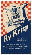 """1930 Vintage """"Ry-Krisp"""" Crackers Advertising Brochure"""
