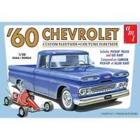 AMT 1 25 1960 Chevy Fleetside Pickup w Go Kart 2T