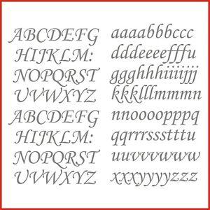 Sticky Back Vinyl Letters Corsiva Alphabet 15/20/25/30/40mm signs banners shops