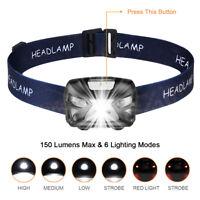 300 Lume LED Lampe de Tête Lampe Frontale Rechargeable Projecteur LED Phare Ap