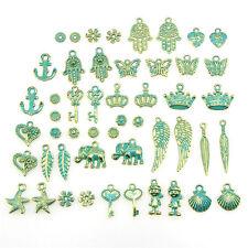Wholesale Retro 50pcs Bulk Lots Mix Classic Charm Pendants Jewelry M&C