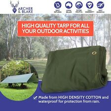 Heavy Duty Canvas Tarp Waterproof Outdoor Shelter Camping Caravan Tent Tarpaulin