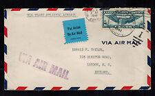 1941Windsor Locks CT USA Uncensor Cover to England Transatlantic CLipper Airmail