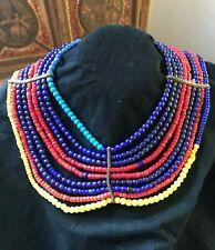"Antique or Vintage African Beaded Belt or collar.  26"" long, 2""h."