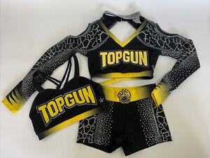 Cheerleading Uniform Allstars Cheer Athletics DRESS Adult SM Jags Topgun EUC