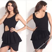 La ferani Hot Celebrity dress negro sexy mini vestido de fiesta discoteca 36 38 40 S M