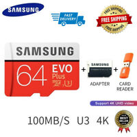 SAMSUNG Card Memory Micro SD 32GB 64GB 128GB EVO SDXC U1/U3 4K Class 10 For Sams
